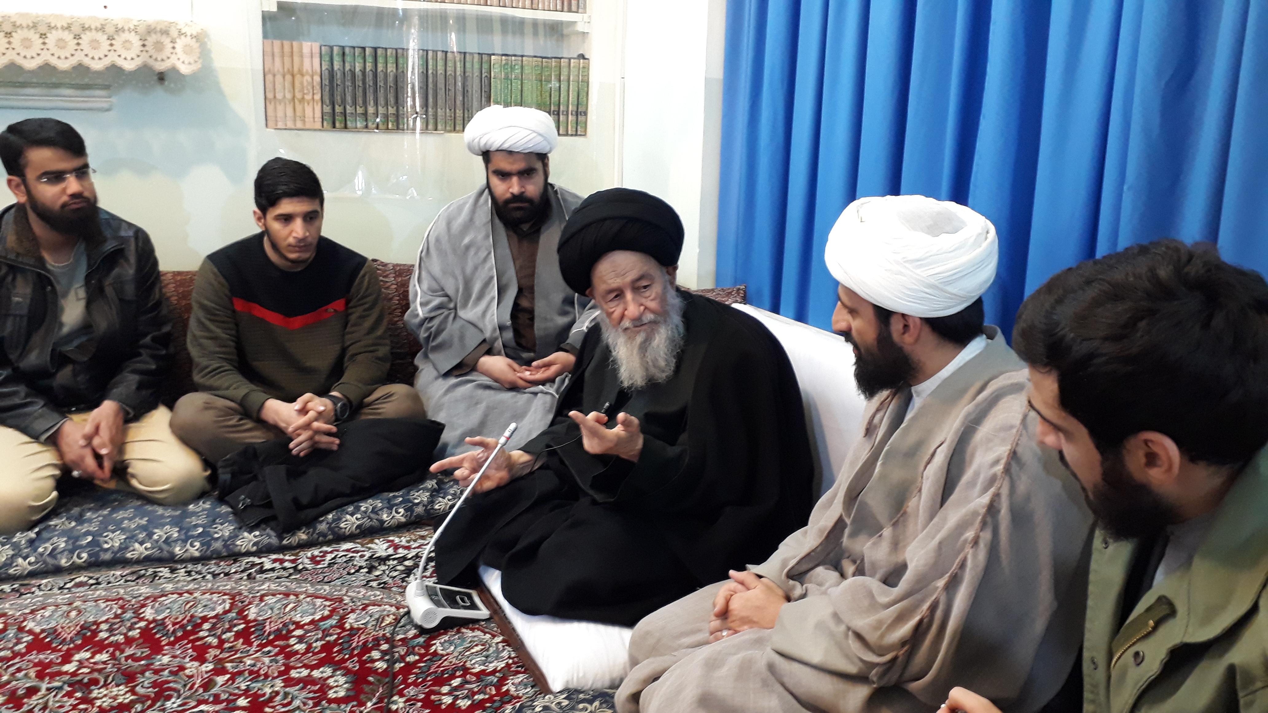 گزارش تصویری از دیدار با آیت الله العظمی علوی گرگانی(زید عزه)