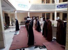 برگزاری نماز آیات به امامت مدیریت محترم مدرسه بخاطر خورشید گرفتگی