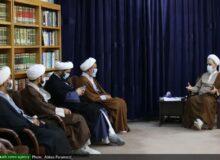 دیدار مدیر و معاونان مدرسه آیت الله بهجت(ره) با آیت الله اعرافی